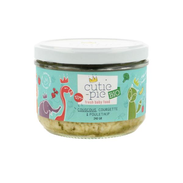 Cutie Pie couscous, courgette & kip